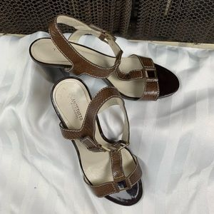 Anzetutto Brown Buckle Strap Sandal Size 9